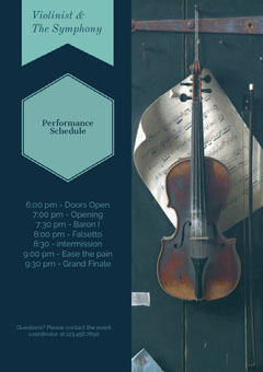 Violinist &<BR>The Symphony  Grand Opening Flyer