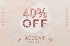 Pink Accent Beauty Coupon Landscape  Cosmetic