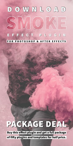 Pink and White Smoke Effect Advertisement Deal