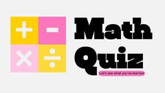 Pink & Yellow Maths Quiz Presentation Cover Quiz Night Poster