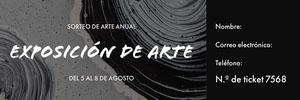 Exposición de arte  Entrada