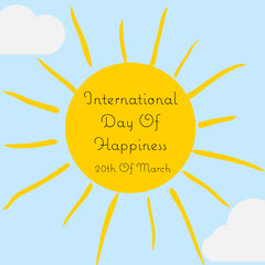 International Day Of Happiness Instagram Square  Sun