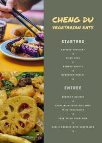 Cheng Du Vegetarian Eats Menu