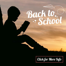 Black and White, Back To School Special Offers, Instagram Square