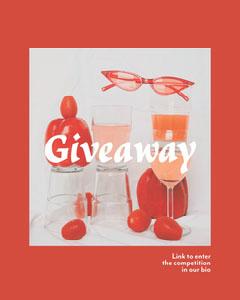 Red Giveaway Instagram Portrait Giveaway
