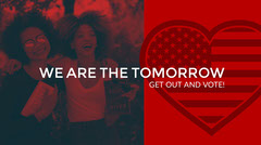 Red and Blue Voting Ad Twitter Banner Voting