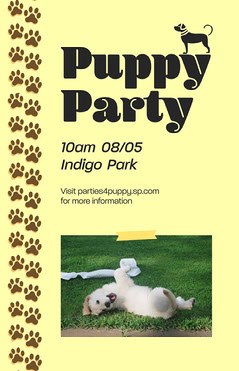 Puppy Party Poster Dog