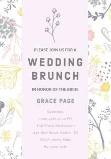 WEDDING BRUNCH Convite de casamento
