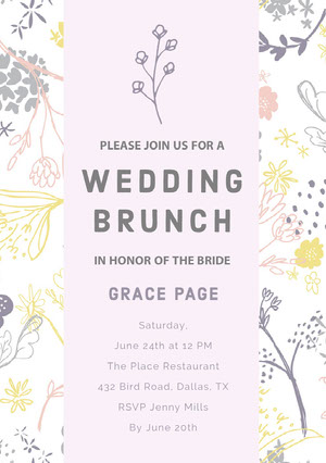 WEDDING BRUNCH Bridal Shower Invitation