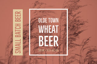 OLDE Town Wheat Beer Olutetiketti