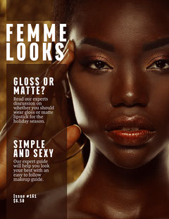 Femme Looks Magazine Cover Makeup