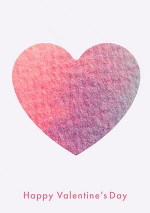 Pin Heart Happy Valentine's Day Card Cartão de dia dos namorados
