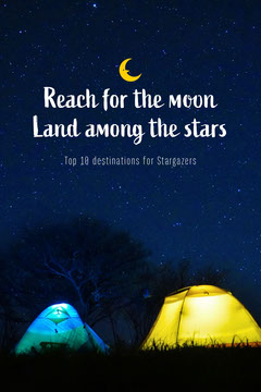 Camping Night Reach for the moon Pinterest  Stars