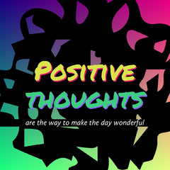 Colorful Inspirational Square Instagram Graphic Positive Thought