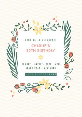 Birthday Party Invitation Bachelorette Party Invitation