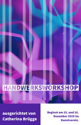 creative craft workshop poster Flyer