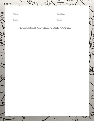 drawing worksheet  Fiche d'exercices