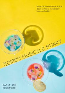 Soirée musicale funky Invitation