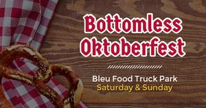 Red and Brown Bottomless Oktoberfest Facebook Advertisement Oktoberfest Invitation Templates