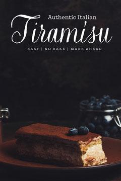 black and brown tiramisu recipe pinterest  Dessert