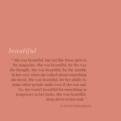 Orange Beauty Quote Instagram Post Beauty