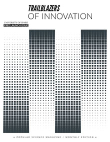 Black and White Modern University Science Magazine Cover Magazine Cover
