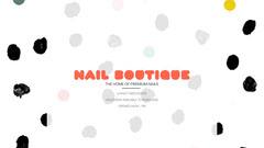 Dot Pattern Nail Boutique Facebook Cover Beauty