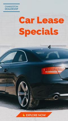 Car Dealership Leasing Ad Instagram Story Car