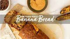Yellow Banana Bread Tutorial Youtube Thumbnail Desert