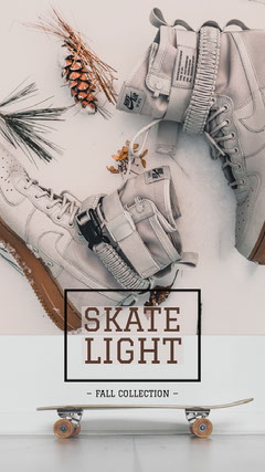 Beige and Brown Skateboarding Instagram Story Ad Shoes
