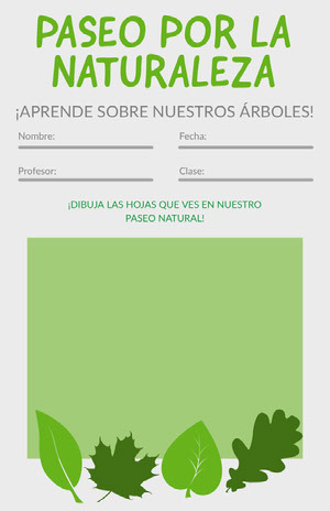 nature walk worksheet  Hoja de cálculo