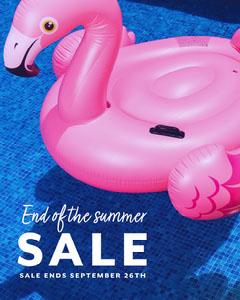 pink blue end of the summer sale instagram portrait  Water