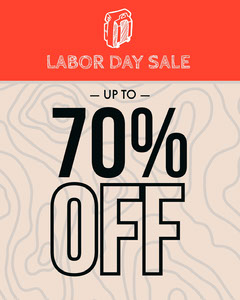 Red, White and Black Labor Day Sale Ad Instagram Portrait Labor Day Flyer