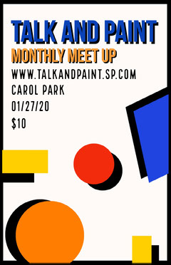 Talk and Paint poster Paint