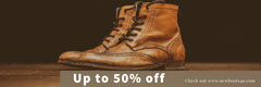 Black With Brown Shoes Sale Banner Shoes