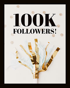 Celebrating Large Number of Folowers Instagram Social Post Graphic Confetti