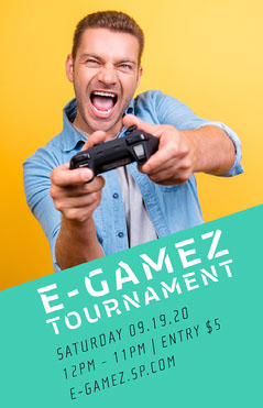 Yellow Green E-Games Gamer Event Poster Sports