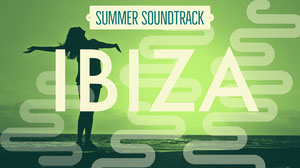 Green and White Ibiza Summer Soundtrack Banner Music Banner