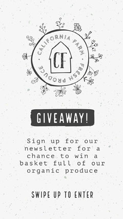 Black and White Barn Shop Giveaway Online Contest Instagram Story Giveaway