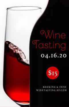 Black and White Wine Tasting Poster Wine Tasting Flyer