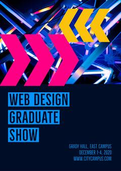 Blue Web Design Graduate Show - Flyer A5 Exhibition