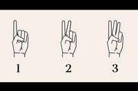 Black and White Sign Language Flashcard Flashcard