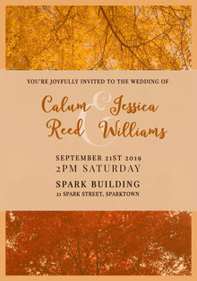 Yellow and Brown Wedding Invitation Partecipazioni di matrimonio