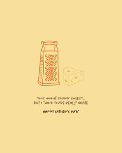 Yellow Fathers Day Joke Instagram Portrait Graphic Cheese