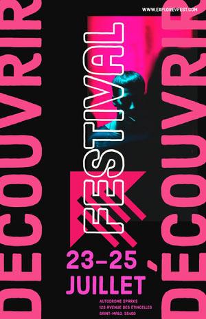 festival event poster Affiche événementielle