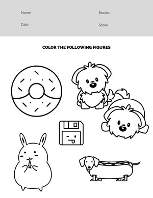 Black and White Coloring Worksheet Worksheet