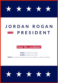American Presidential Candidate Meeting Flyer Meeting Flyer