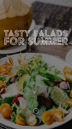 Summer Salad Recipe Instagram Story Healthy
