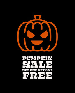 orange and black pumpkin sale instagram portrait  Bogo