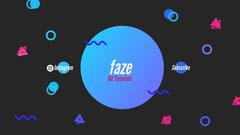 faze YouTube channel art  Neon